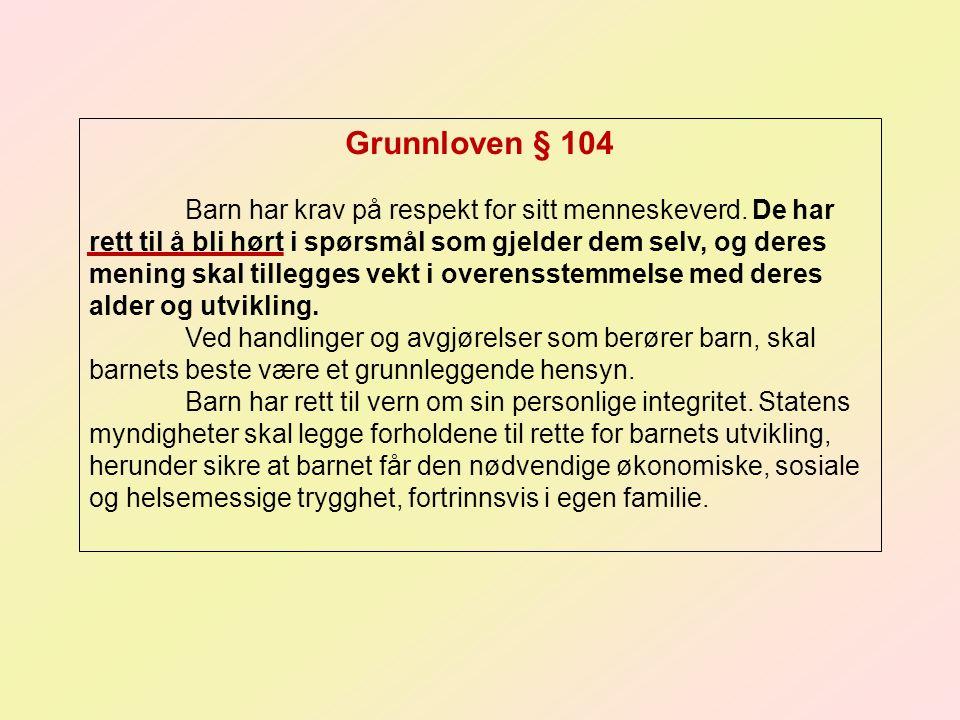 Grunnloven § 104