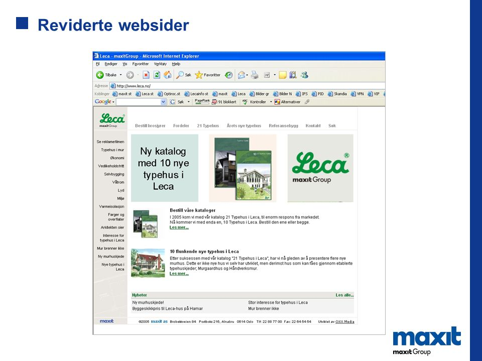 Reviderte websider