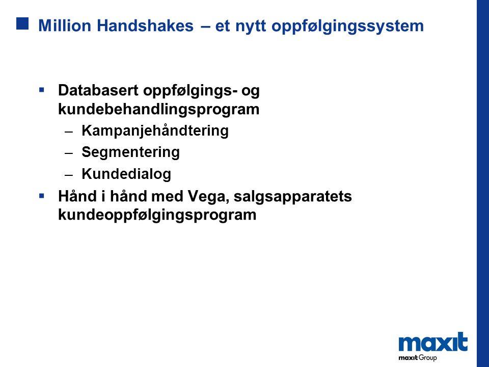 Million Handshakes – et nytt oppfølgingssystem