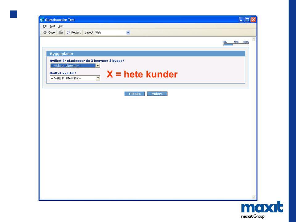 X = hete kunder