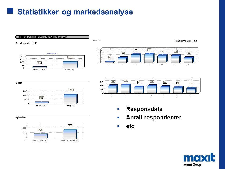 Statistikker og markedsanalyse