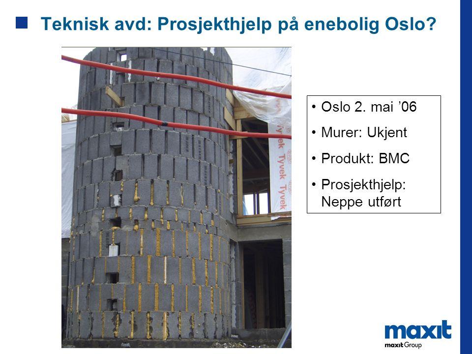 Teknisk avd: Prosjekthjelp på enebolig Oslo
