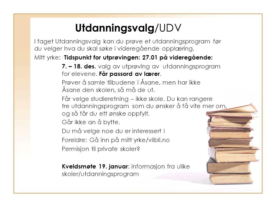 Utdanningsvalg/UDV