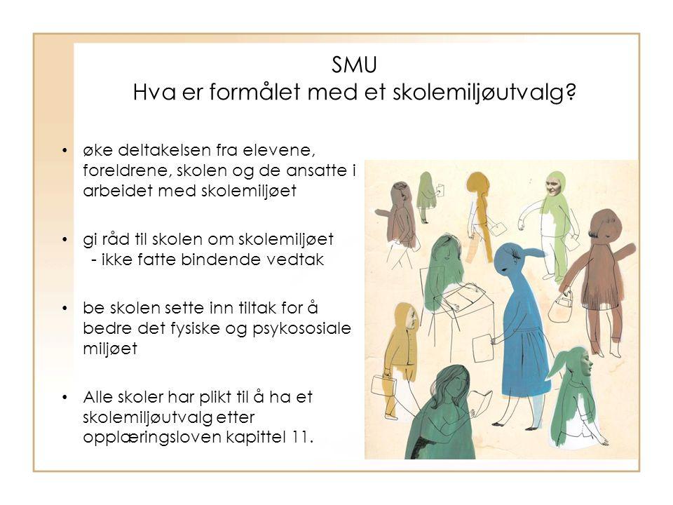SMU Hva er formålet med et skolemiljøutvalg