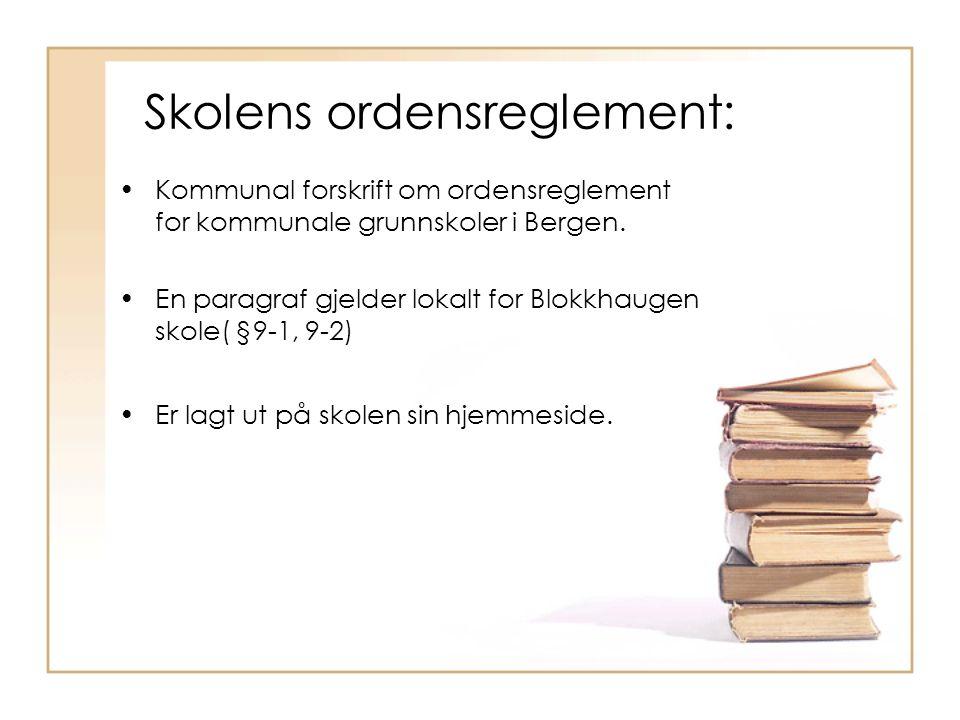 Skolens ordensreglement: