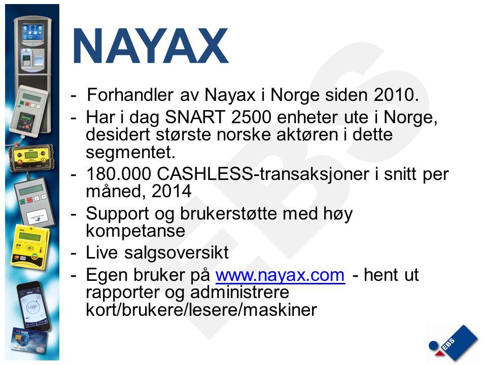 NAYAX - Forhandler av Nayax i Norge siden 2010.