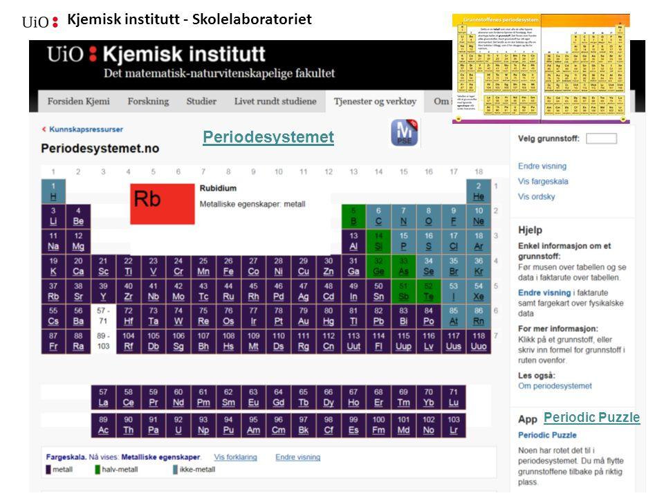 Periodesystemet Periodic Puzzle 06.01.15