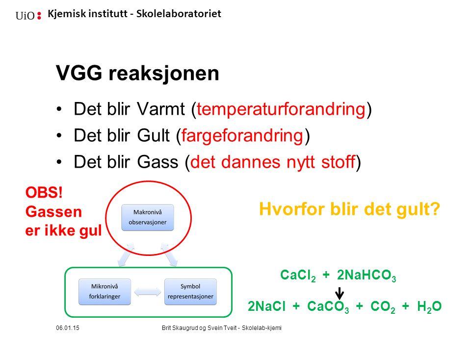 VGG reaksjonen Det blir Varmt (temperaturforandring)
