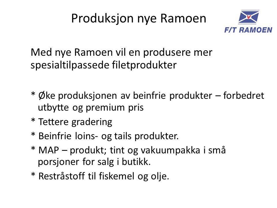Produksjon nye Ramoen Med nye Ramoen vil en produsere mer spesialtilpassede filetprodukter.