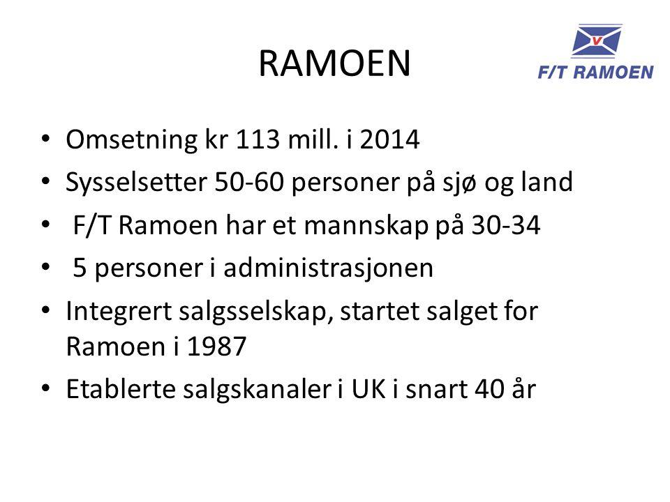 RAMOEN Omsetning kr 113 mill. i 2014