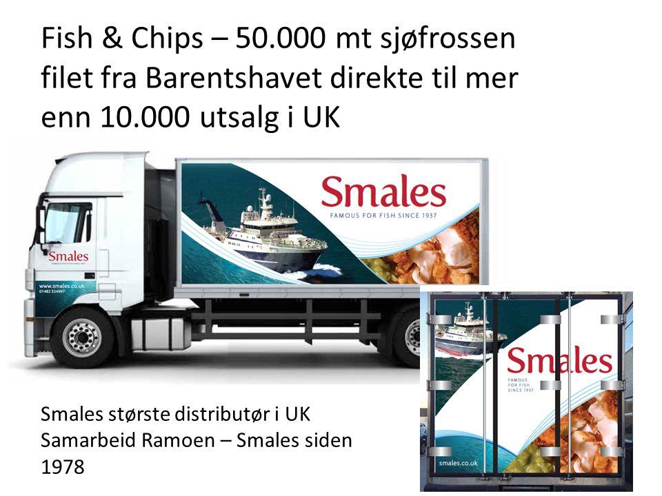 Fish & Chips – 50.000 mt sjøfrossen filet fra Barentshavet direkte til mer enn 10.000 utsalg i UK