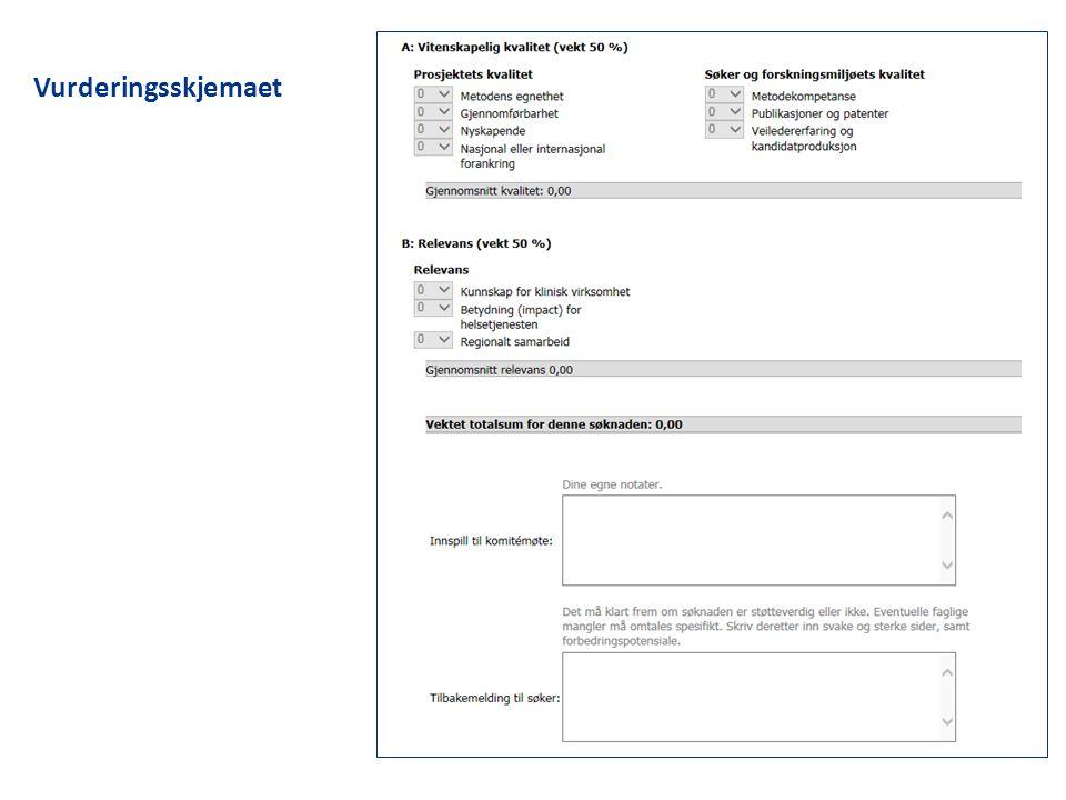 Vurderingsskjemaet