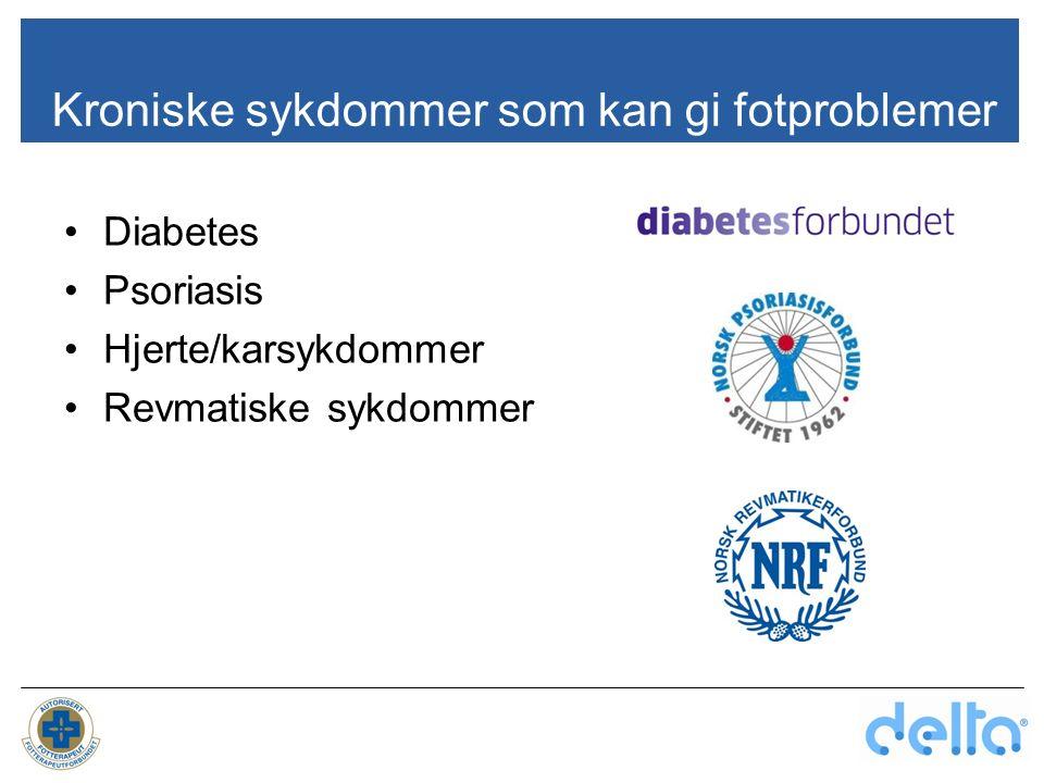 Kroniske sykdommer som kan gi fotproblemer