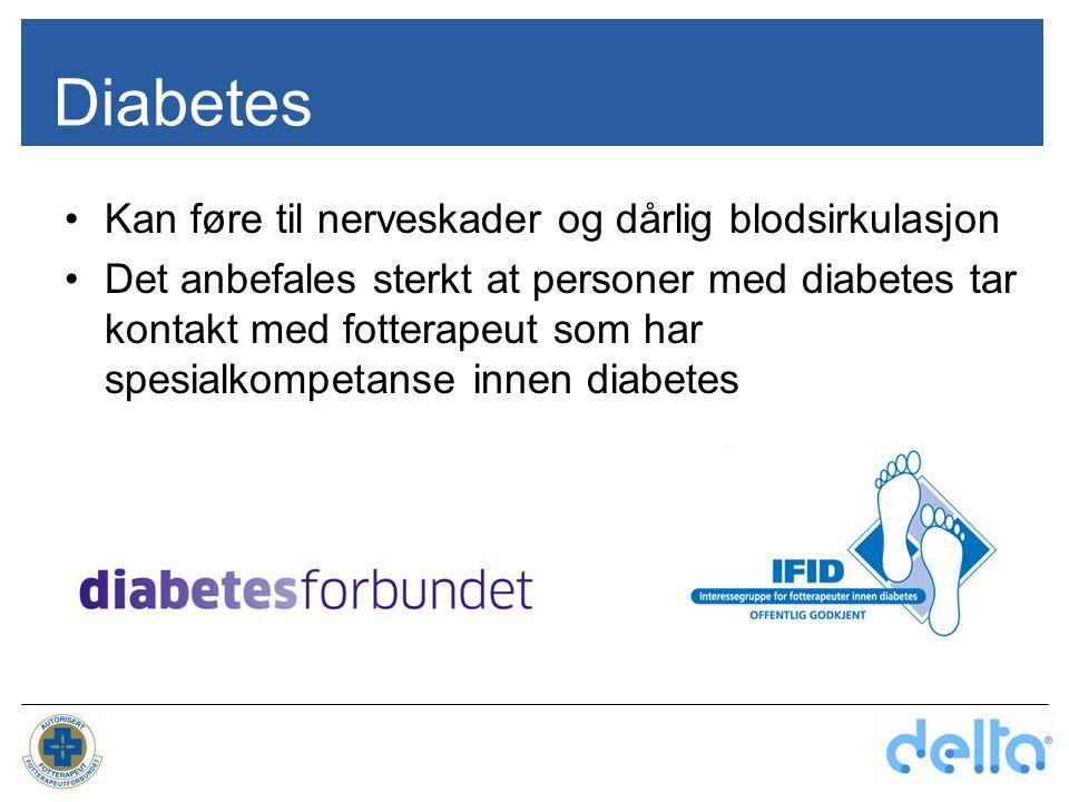Diabetes Kan føre til nerveskader og dårlig blodsirkulasjon