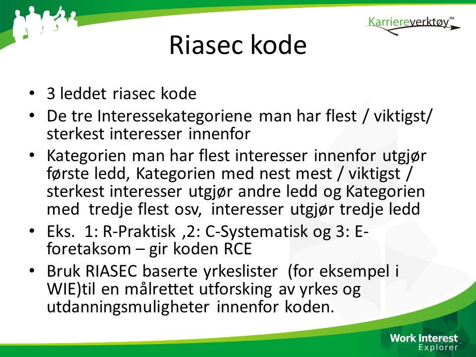 Riasec kode 3 leddet riasec kode