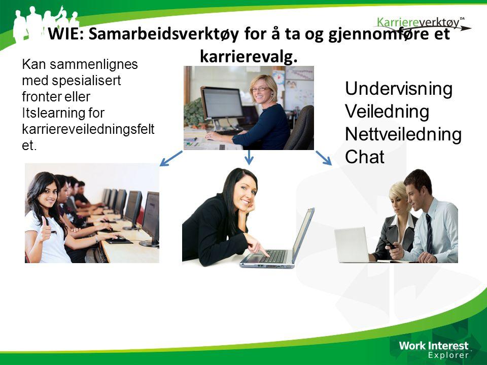 WIE: Samarbeidsverktøy for å ta og gjennomføre et karrierevalg.