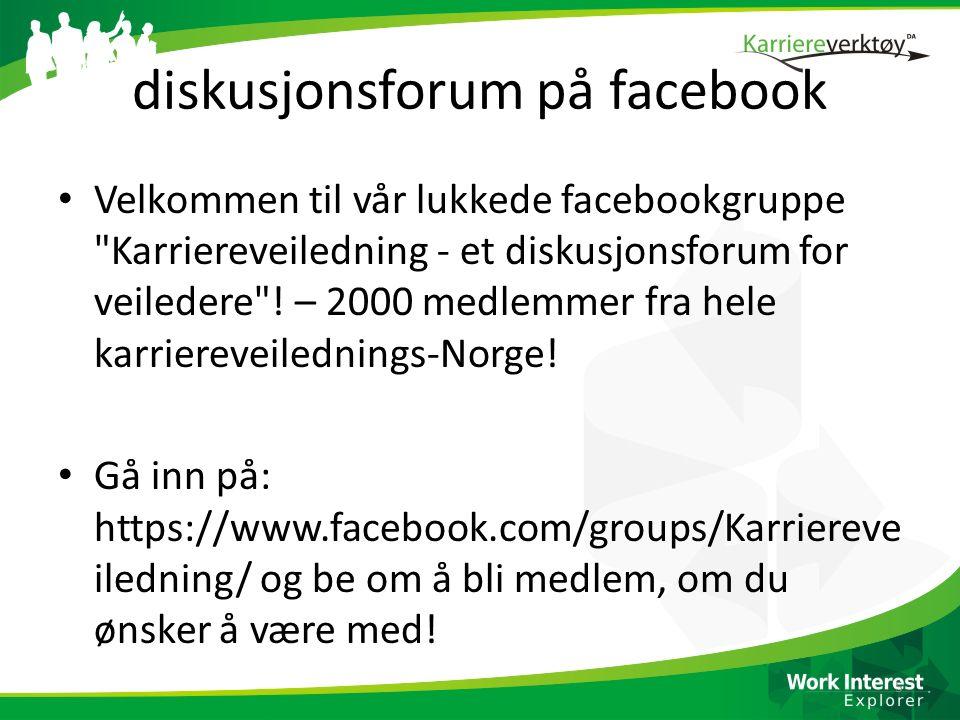 diskusjonsforum på facebook