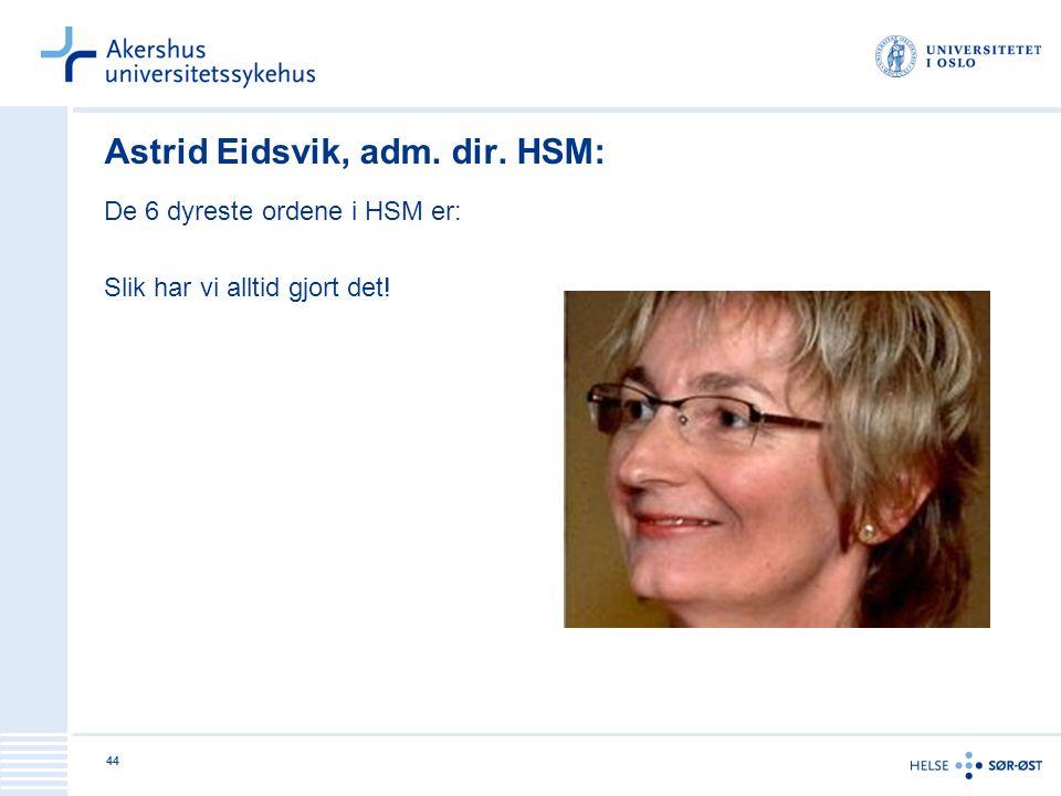 Astrid Eidsvik, adm. dir. HSM: