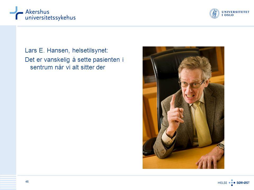 Lars E. Hansen, helsetilsynet: