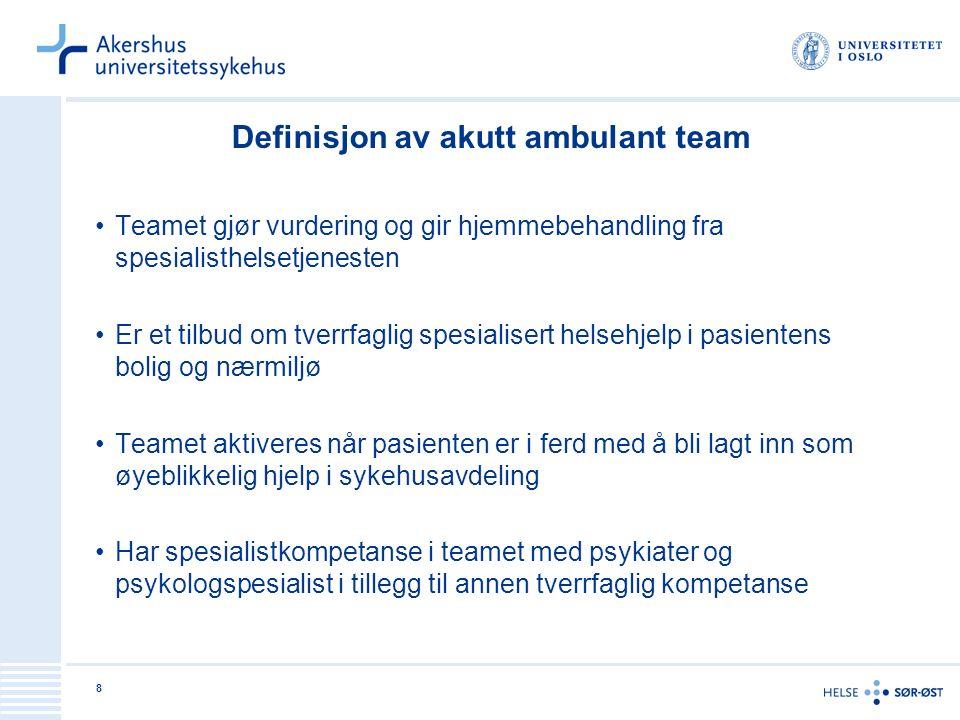 Definisjon av akutt ambulant team