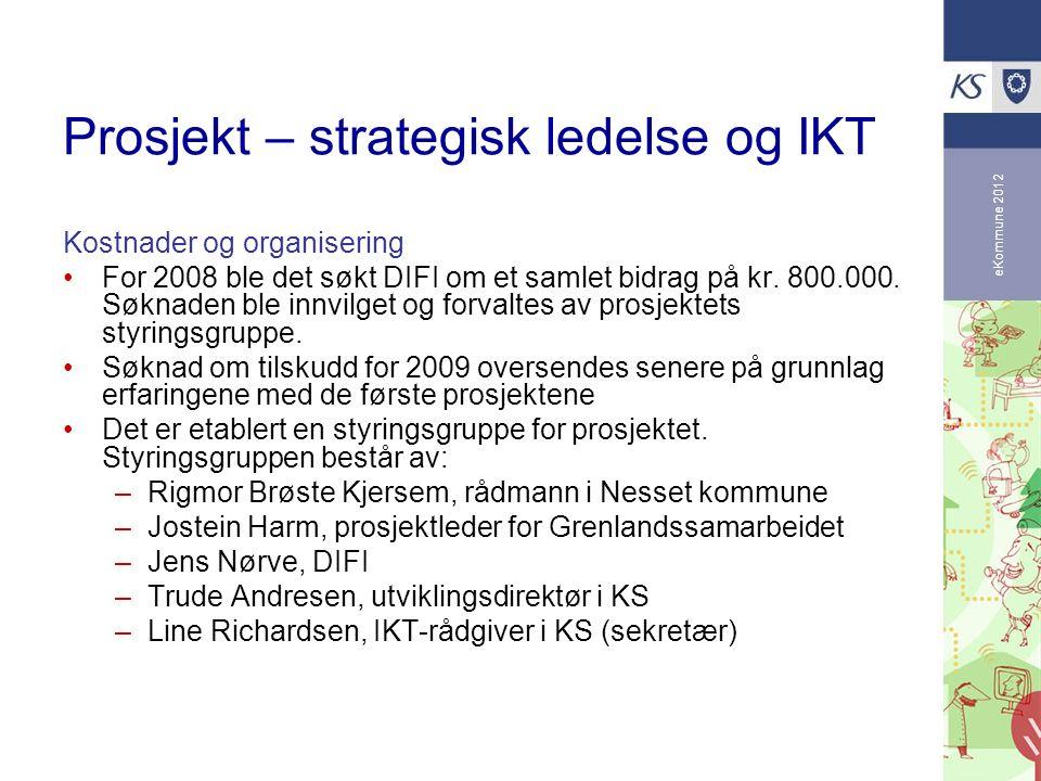 Prosjekt – strategisk ledelse og IKT