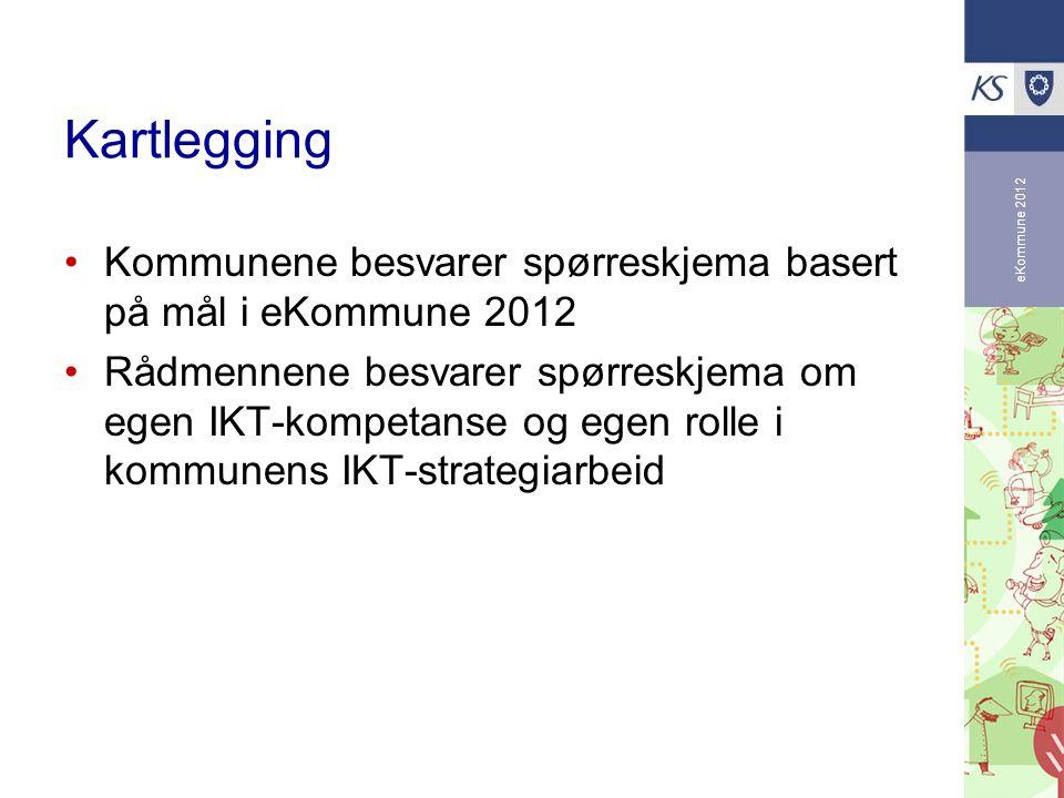 Kartlegging eKommune 2012. Kommunene besvarer spørreskjema basert på mål i eKommune 2012.