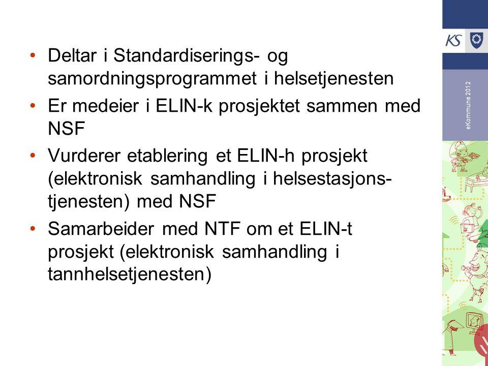 Deltar i Standardiserings- og samordningsprogrammet i helsetjenesten