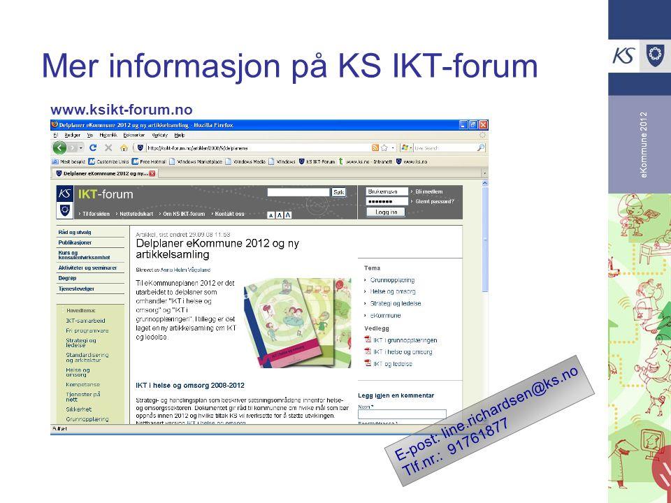 Mer informasjon på KS IKT-forum