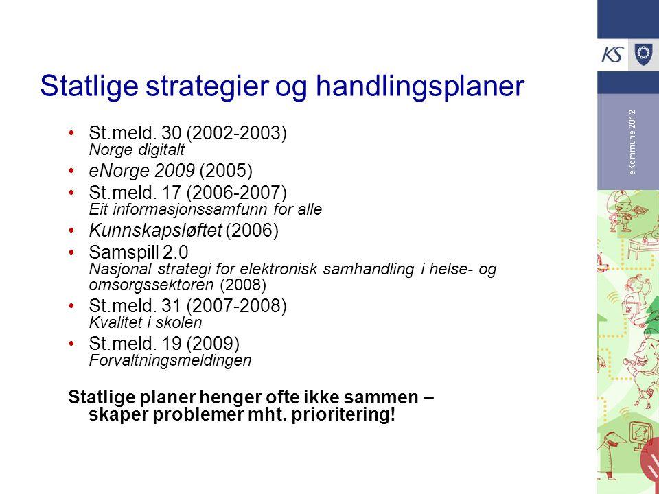 Statlige strategier og handlingsplaner