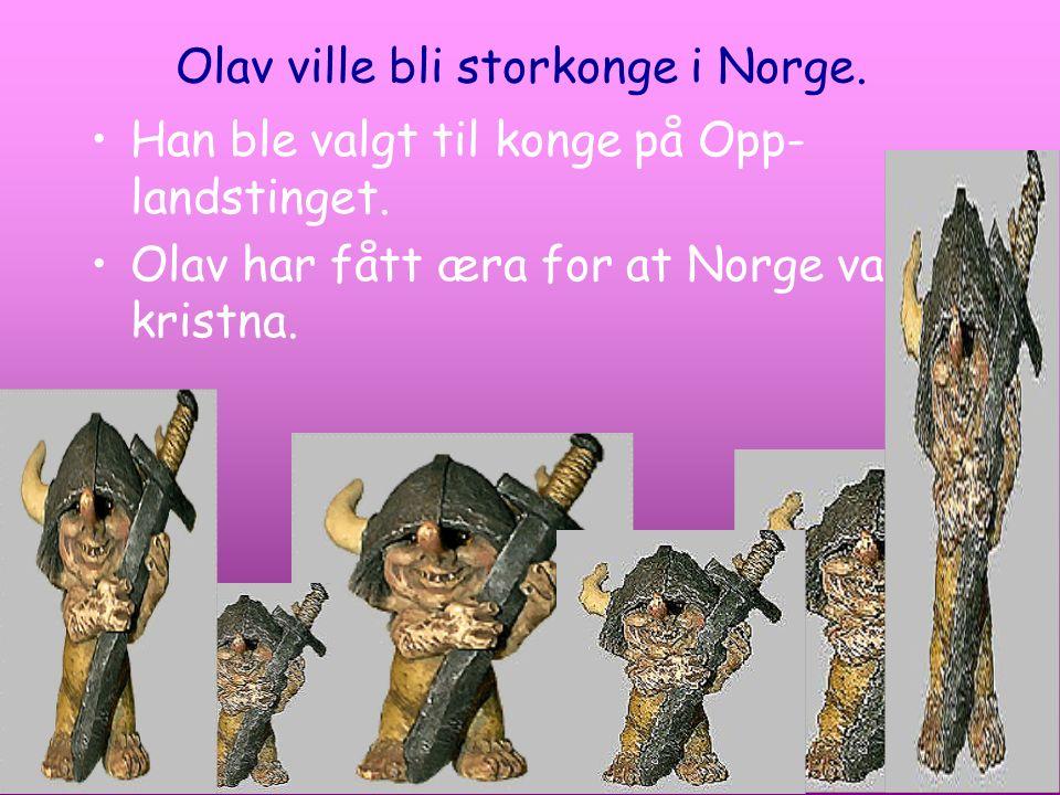 Olav ville bli storkonge i Norge.