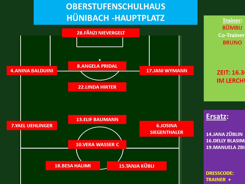 FC HÜNIBACH 6:2 FC LERCHENFELD