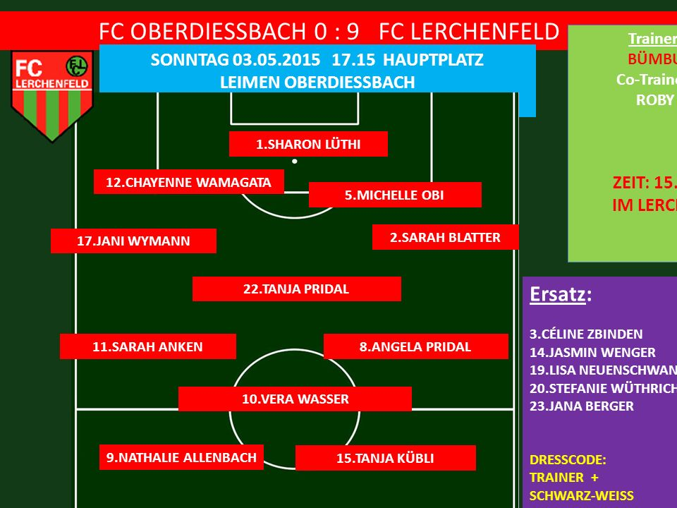 FC OBERDIESSBACH 0 : 9 FC LERCHENFELD