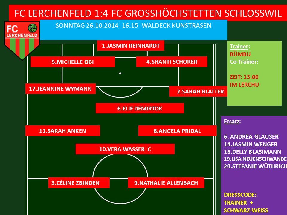 FC LERCHENFELD 1:4 FC GROSSHÖCHSTETTEN SCHLOSSWIL