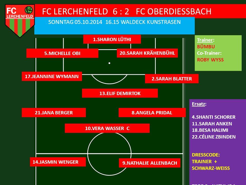 FC LERCHENFELD 6 : 2 FC OBERDIESSBACH