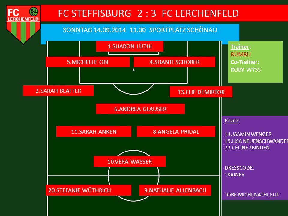 FC STEFFISBURG 2 : 3 FC LERCHENFELD