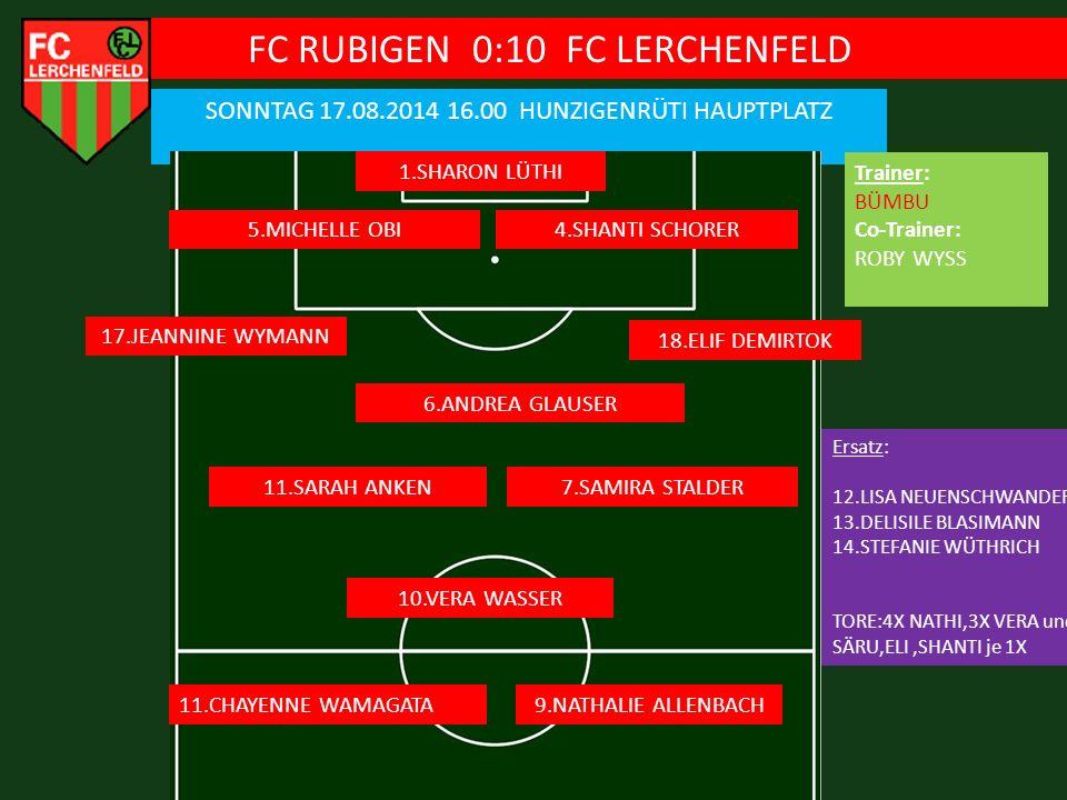 FC RUBIGEN 0:10 FC LERCHENFELD