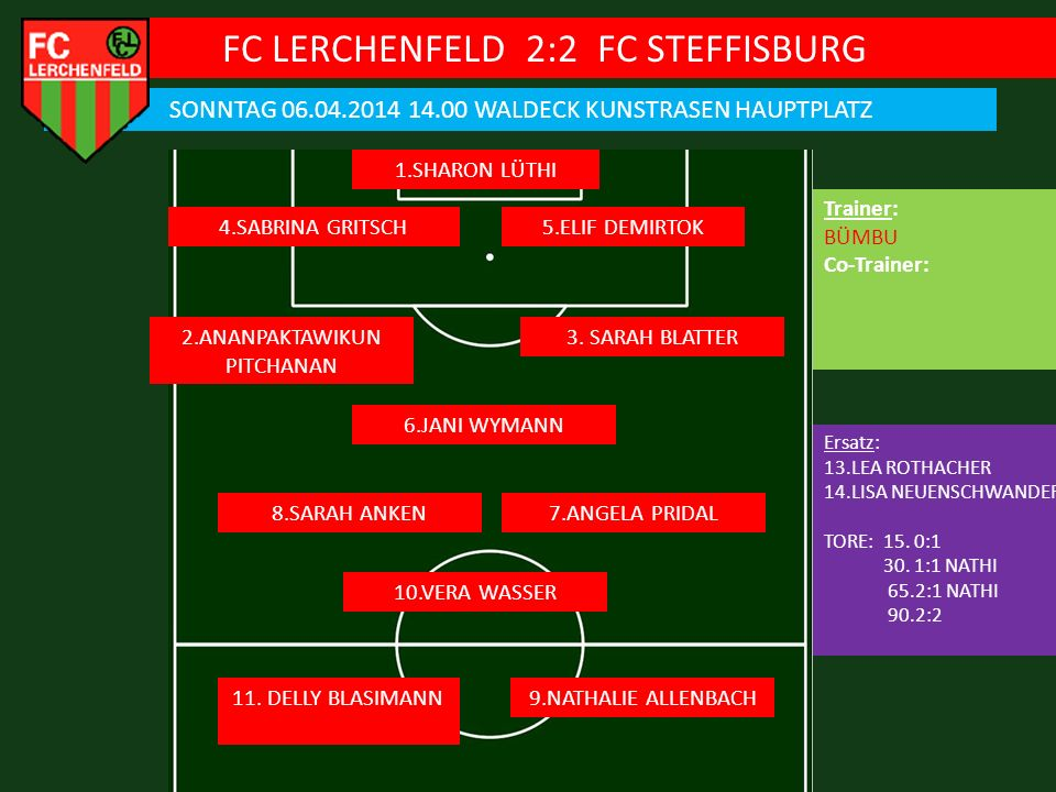 FC LERCHENFELD 2:2 FC STEFFISBURG