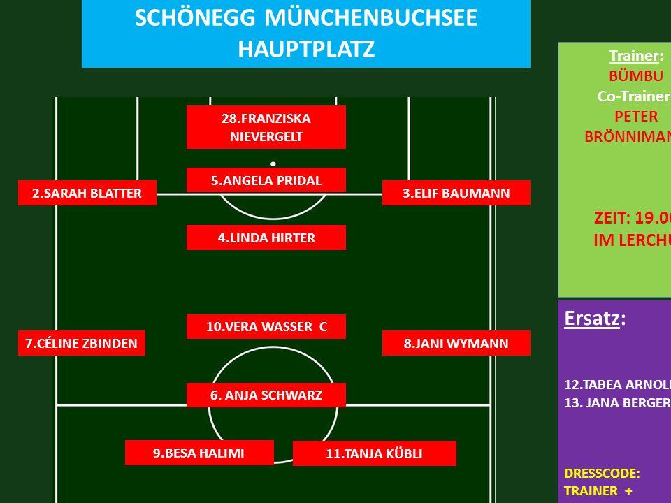 SC MÜNCHENBUCHSEE 0 : 10 FC LERCHENFELD SCHÖNEGG MÜNCHENBUCHSEE