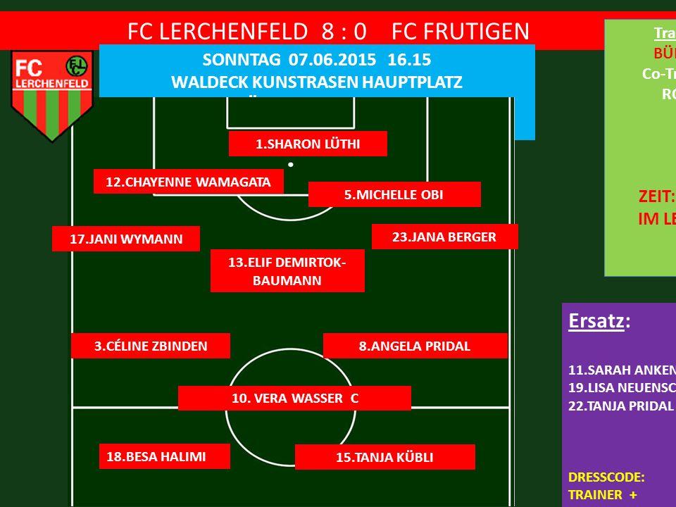 FC LERCHENFELD 8 : 0 FC FRUTIGEN