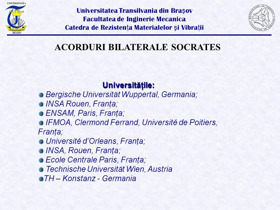 ACORDURI BILATERALE SOCRATES