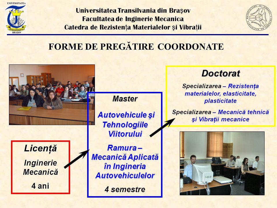 FORME DE PREGĂTIRE COORDONATE