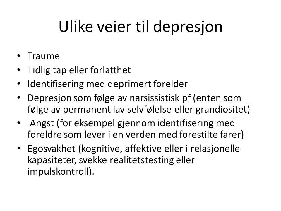 Ulike veier til depresjon