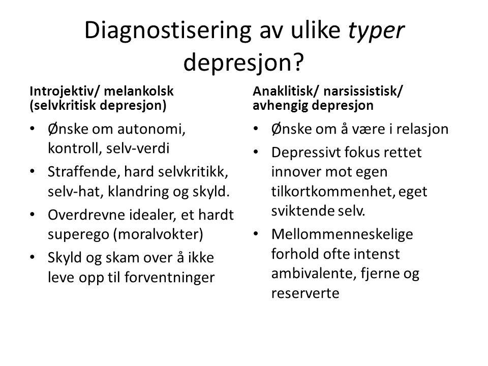 Diagnostisering av ulike typer depresjon