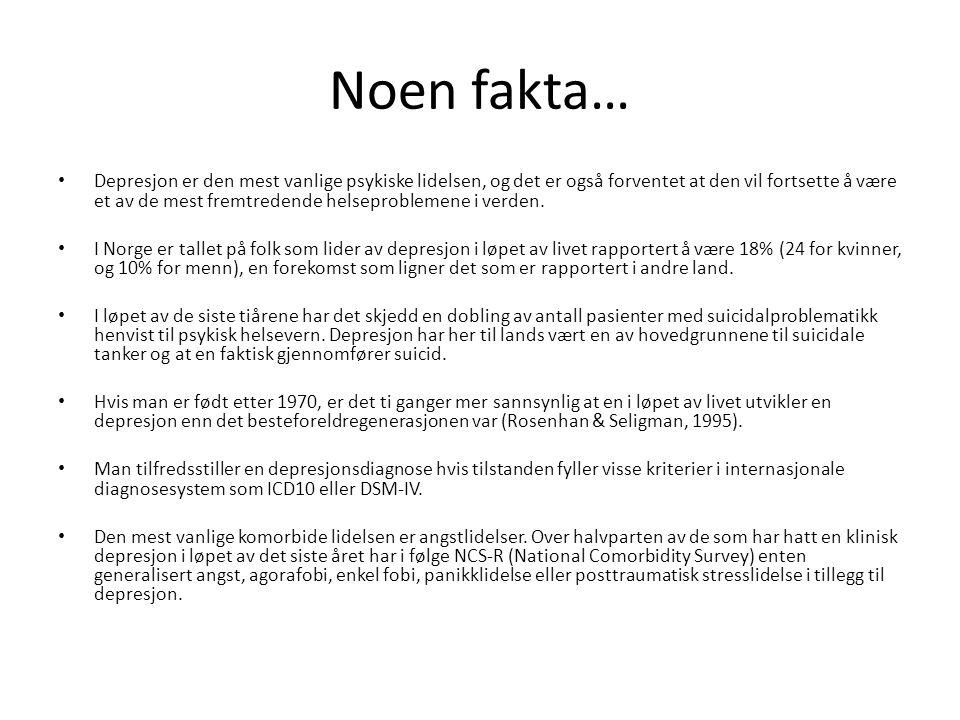 Noen fakta…