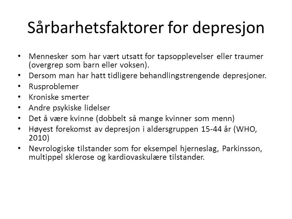 Sårbarhetsfaktorer for depresjon