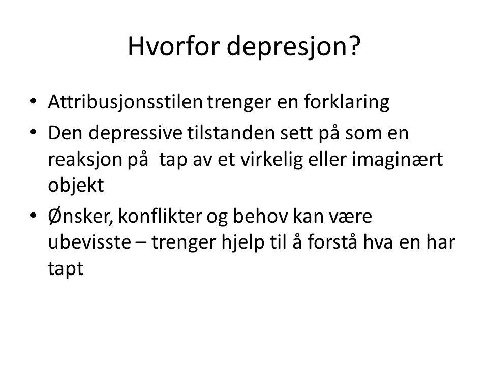 Hvorfor depresjon Attribusjonsstilen trenger en forklaring