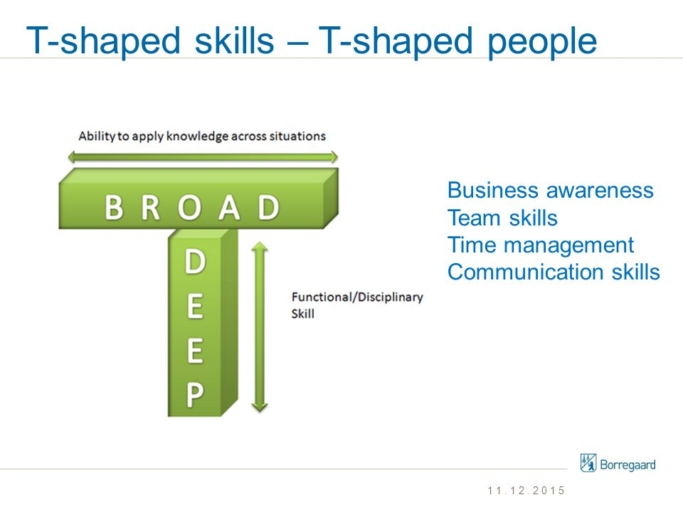 T-shaped skills – T-shaped people