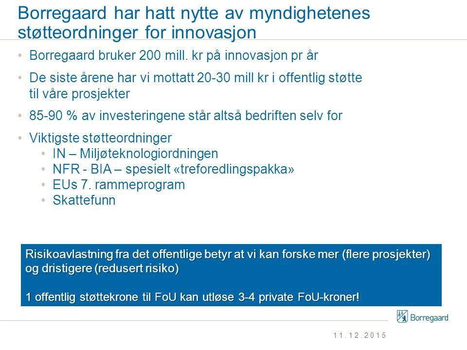 Borregaard har hatt nytte av myndighetenes støtteordninger for innovasjon