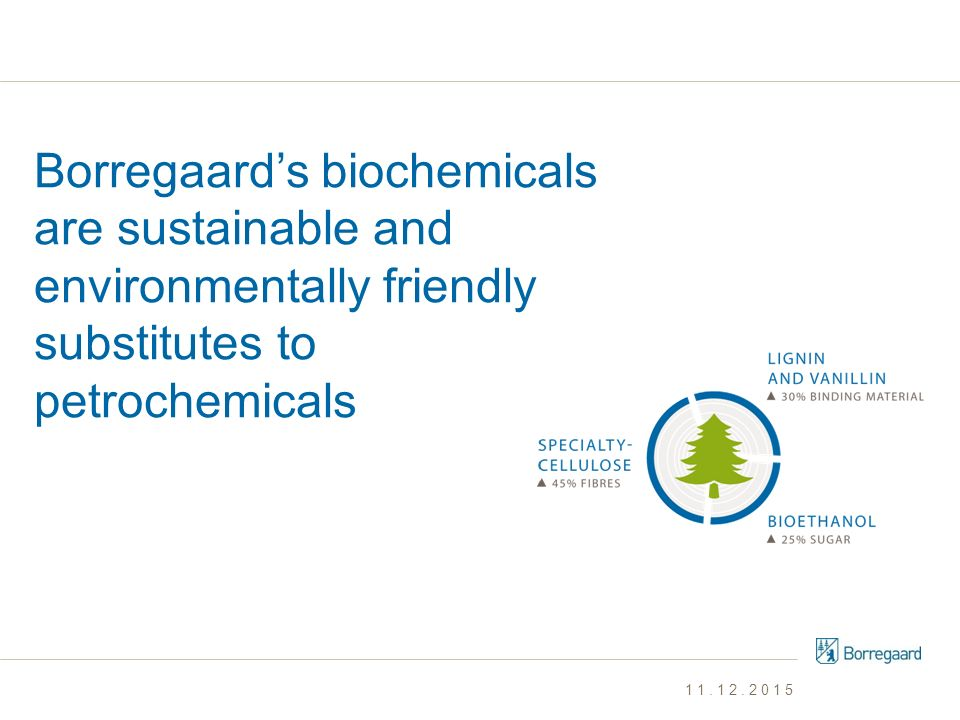 Borregaard's biochemicals are sustainable and