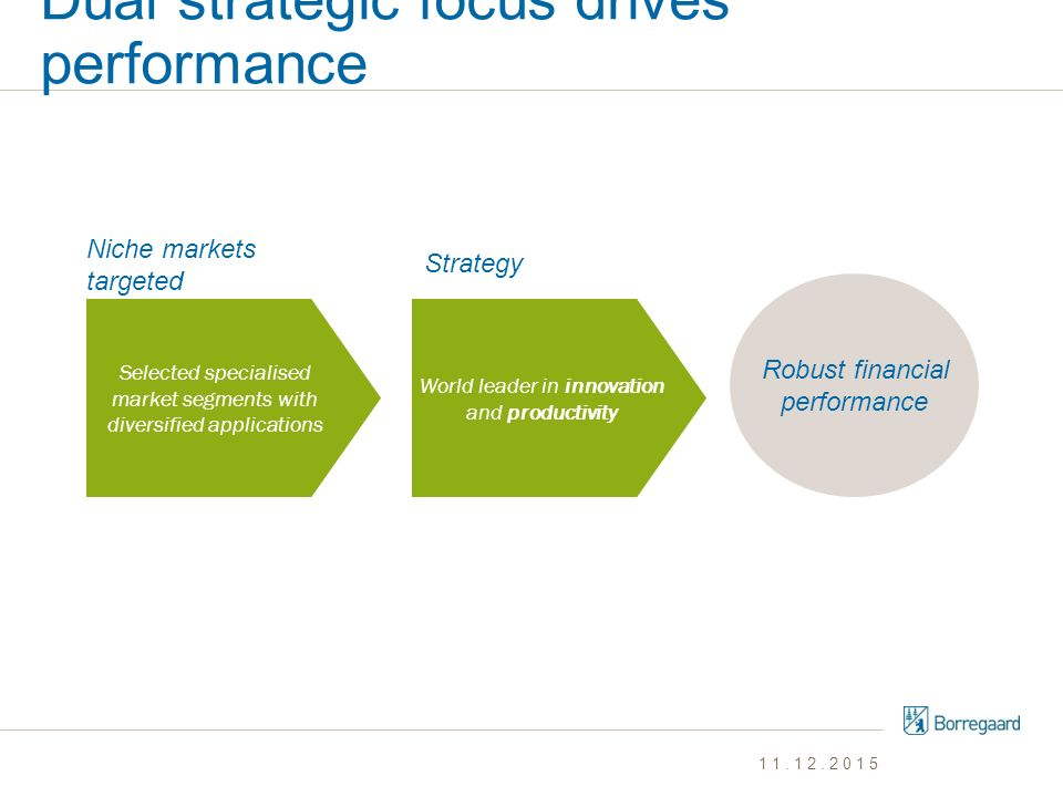 Dual strategic focus drives performance